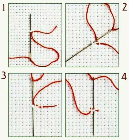 Вышивки одной нитью схема 368